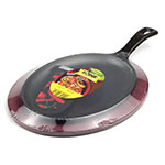 "Lodge LFSR3 Fajita Griddle Set - 10x7"", Chili Pepper Red Underliner, Chili Pepper Handle Mitt"