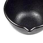 """Lodge LMP3 4.5"""" Round Cast Iron Seasoned Melting Pot w/ 14-oz Capacity"""