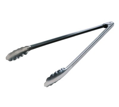 Lodge A5-4 16-in Camp Tongs, Dishwasher Safe, Stainless