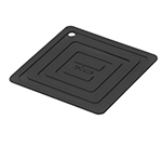 Lodge AS6S11 Square Silicone Potholder, Heat Resistant to 250-Degrees F, 5.87x5.87-in, Black