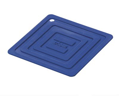 Lodge AS6S31 Square Silicone Potholder, Heat Resistant to 250-Degrees F, 5.87x5.87-in, Blue