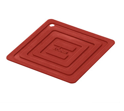 Lodge AS6S41 Square Silicone Potholder, Heat Resistant to 250-Degrees F, 5.87x5.87-in, Red