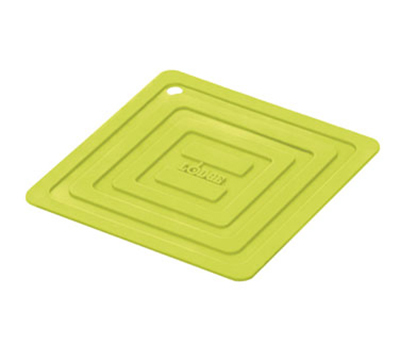 Lodge AS6S51 Square Silicone Potholder, Heat Resistant to 250-Degrees F, 5.87x5.87-in, Green