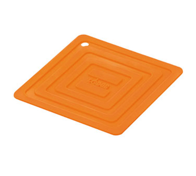 Lodge AS6S61 Square Silicone Potholder, Heat Resistant to 250-Degrees F, 5.87x5.87-in, Orange
