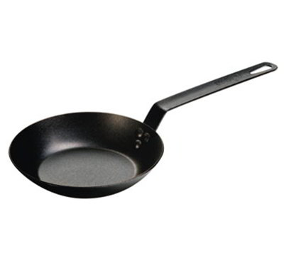 "Lodge CRS8 8"" Carbon Steel Frying Pan w/ Solid Metal Handle"