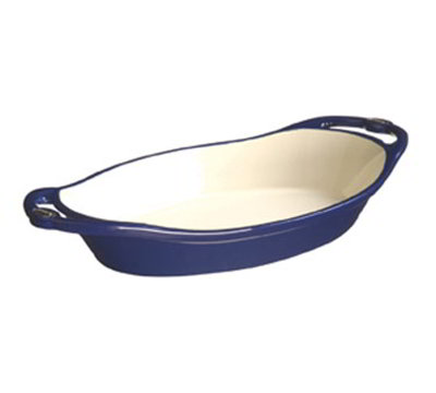 Lodge E2OC30 2-qt L Series Oval Casserole, Cast Iron, Enamel, Liberty Blue
