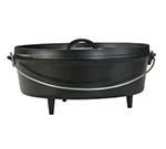 Lodge L14CO3 14-in Round Cast Iron Dutch Oven w/ 8-qt Capacity & 3-Legs, Bail Wire