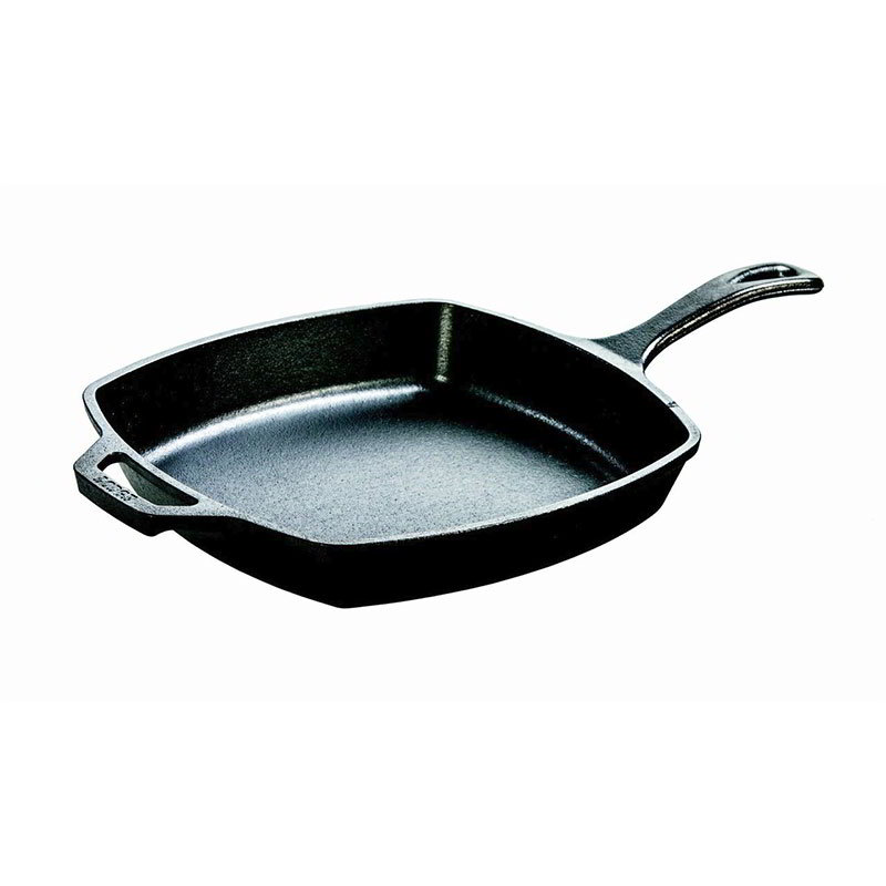 "Lodge L8SQ3 10.5"" Square Cast Iron Seasoned Skillet"
