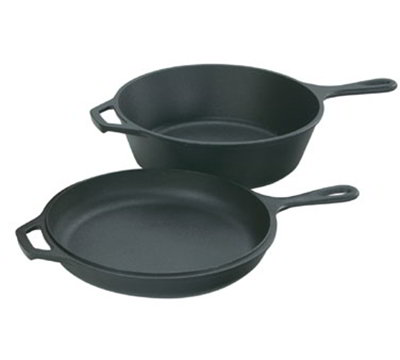 "Lodge LCC3 10.25"" Cast Iron Seasoned Combo Cooker w/ 3-qt Capacity & Skillet Lid"