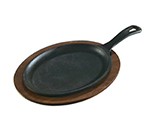 Lodge LOS3 Oval Cast Iron Serving Griddle, 15.25x7.5-in