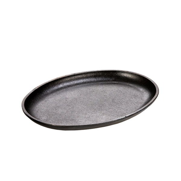 Lodge LOSH3 Oval Cast Iron Serving Griddle, 10x7.5-in