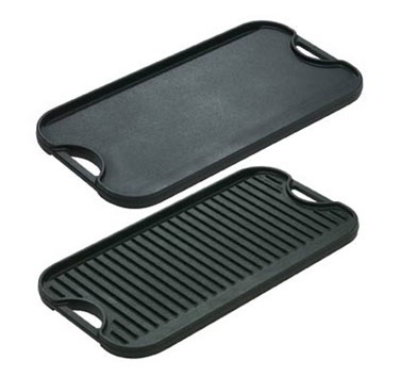 Lodge LPG13 Reversible Ribbed Flat Iron Griddle