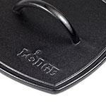 "Lodge LPP3 8.25"" Square Cast Iron Panini Press w/ Integral Handle"