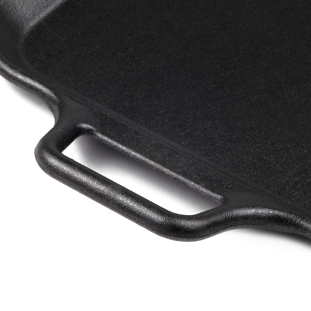 """Lodge P12SG3 12"""" Square Cast Iron Seasoned Griddle w/ Rolled Edges & Handle"""