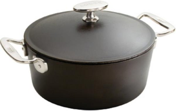 Lodge SS10D Signature Series Dutch Oven, 4-1/2 Quarts 10 in x 4 in Deep, Pre-Seasoned