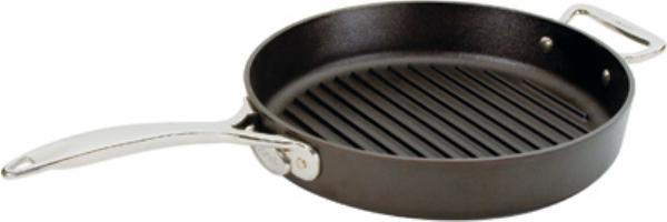 Lodge SS12GR Signature Series Grill Pan, 12 in x 2-1/2 in Deep, Pre-Seasoned Cast Iron