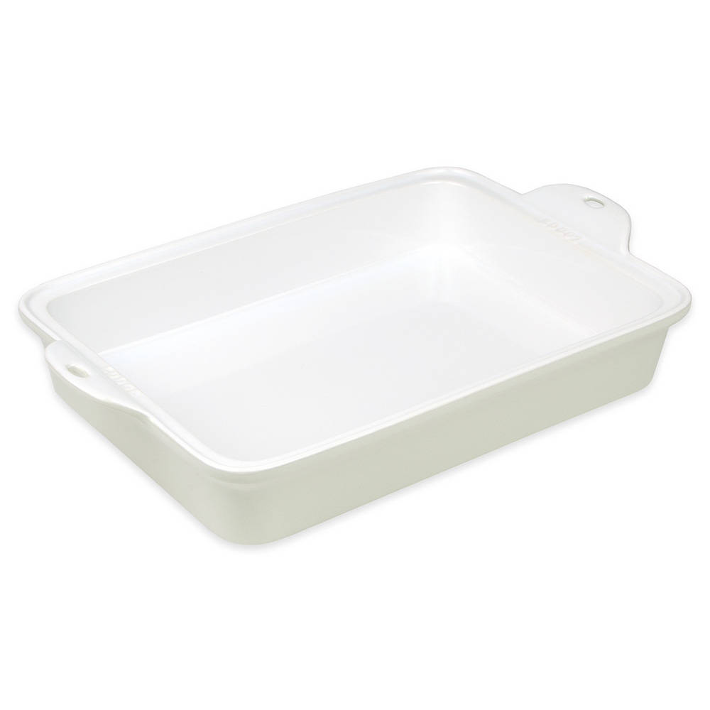 "Lodge STW13RCT13 Rectangular Baking Dish - 9"" x 13"", Stoneware, Oyster White"