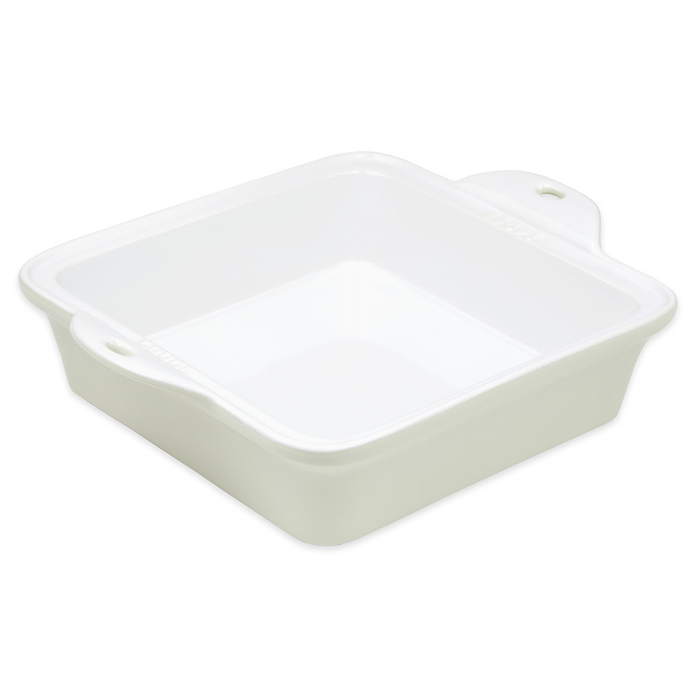 "Lodge STW8SQ13 Square Baking Dish - 8"" x 8"", Stoneware, Oyster White"
