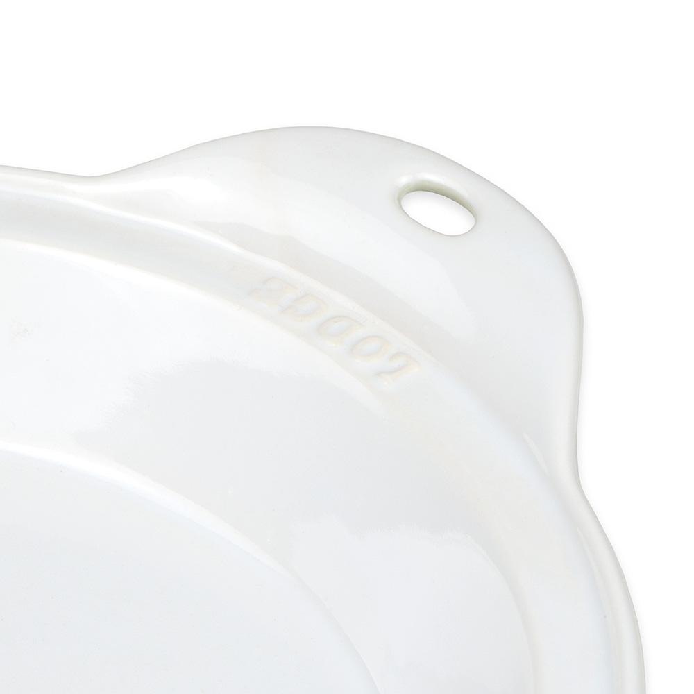 "Lodge STW9R13 9.5"" Round Baking Dish - Stoneware, Oyster White"