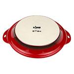 "Lodge STW9R43 9.5"" Round Baking Dish - Stoneware, Red"