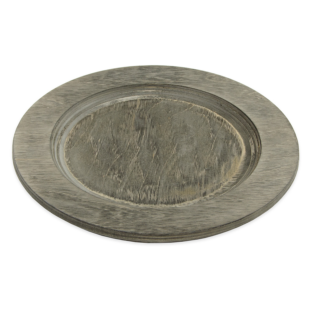 "Lodge U5RP 9.5"" Round Wood Underliner, Walnut Stain"