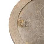 """Lodge U6RP 10"""" Round Wood Underliner, Walnut Stain"""