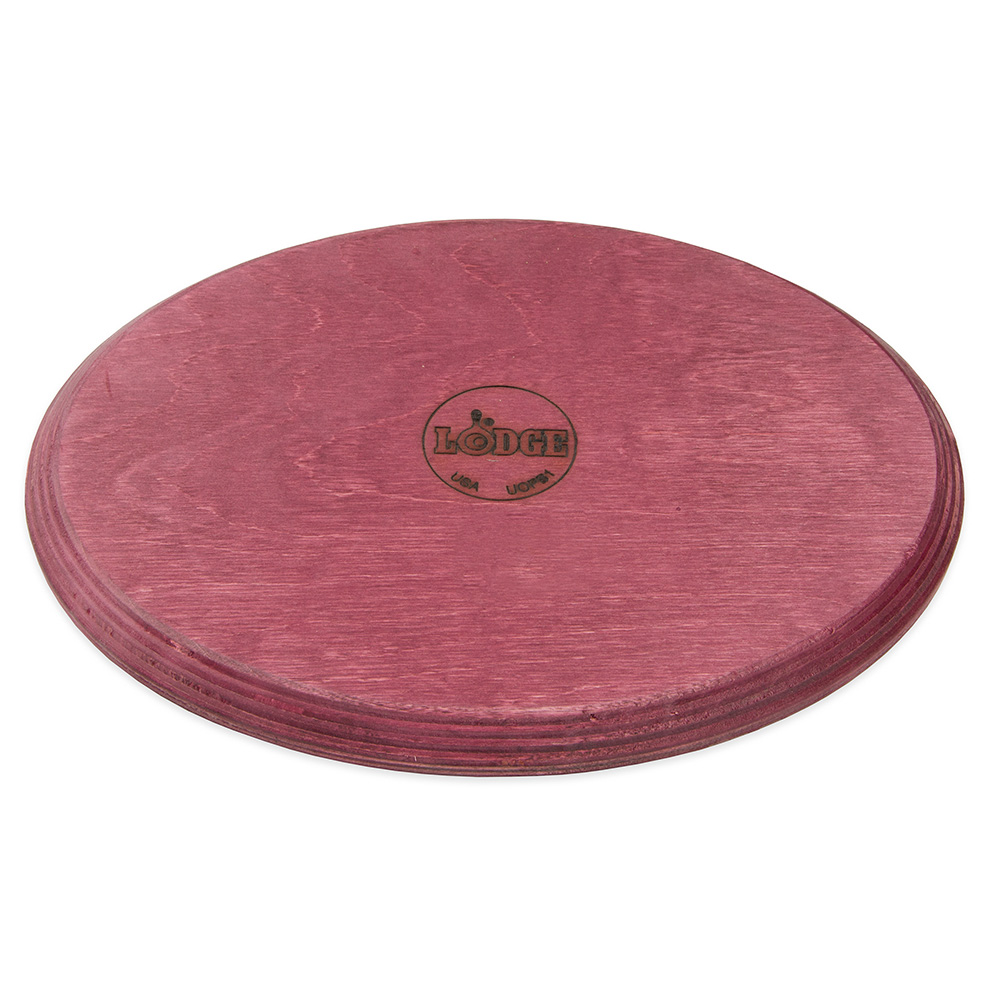 Lodge UOPB1 Oval Wood Underliner, Chili Pepper Red