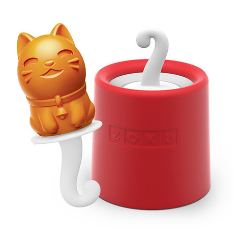 Zoku 009 Kitty Pop Maker - 1 Mold & 1 Stick w/ Drip Guard