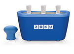 Zoku ZK101 BL Quick Pop Maker w/ 6-Sticks & 6-Drip Guards, Super Tool, Blue