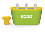 Zoku ZK101 GN Quick Pop Maker w/ 6-Sticks & 6-Drip Guards, Super Tool, Green