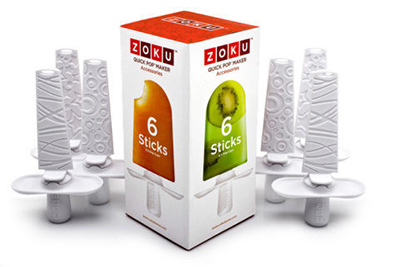 Zoku ZK102 Sticks & Drip Guards for Quick Pop Maker