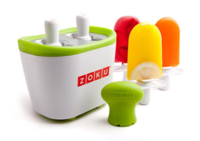 Zoku ZK107 Duo Quick Pop Maker w/ 4-Sticks & 4-Drip Guards, Super Tool