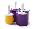 Zoku ZK116 Round Pop Mold w/ 4-Removable Molds & 4-Sticks, Drip Guards