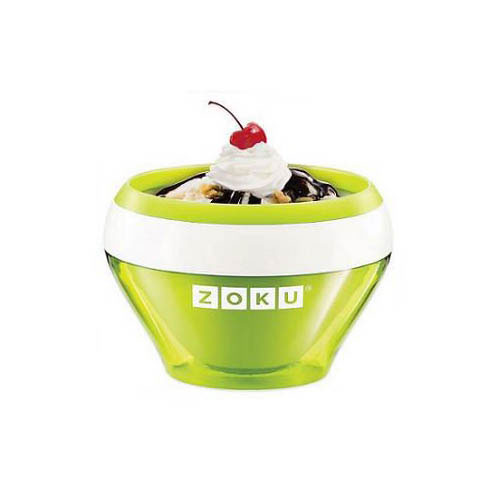 Zoku ZK120GN 5-oz Ice Cream Maker Bowl w/ Spoon, Green