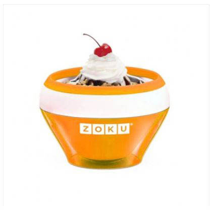 Zoku ZK120OR 5-oz Ice Cream Maker Bowl w/ Spoon, Orange