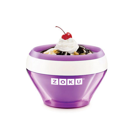 Zoku ZK120PU 5-oz Ice Cream Maker Bowl w/ Spoon, Purple