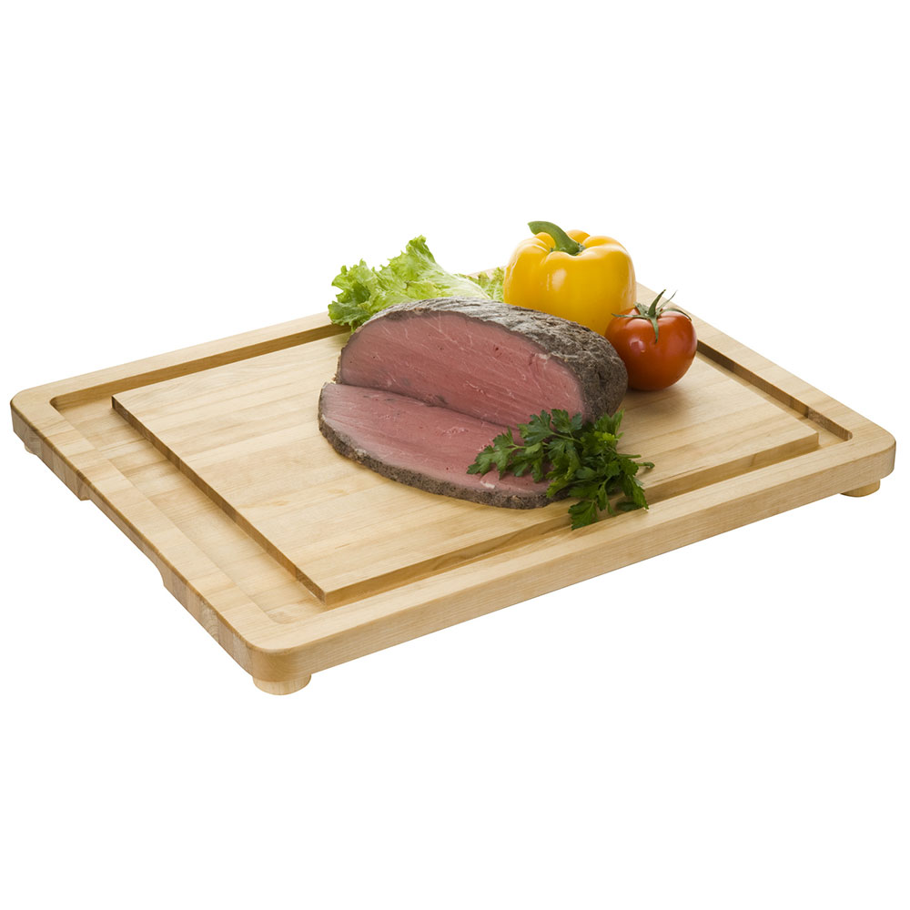 """Focus 1206L Wooden Carving Board w/ Non-Skid Rubber Legs, 20 X 16 x 1"""""""