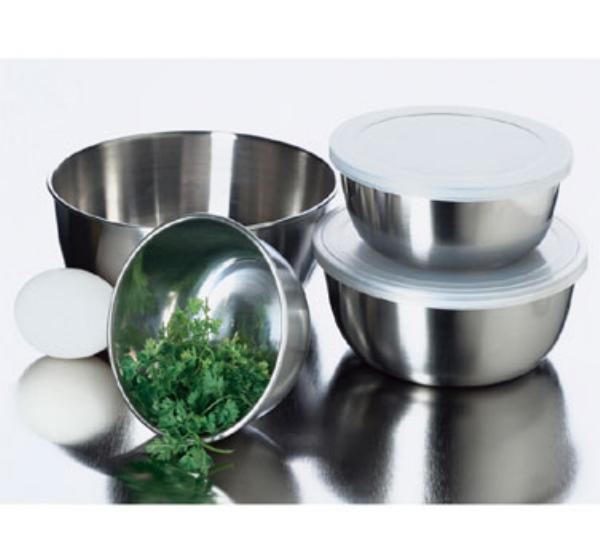 Focus 239 Prep Bowl Set w/ Lids, 4 Piece, Stainless Steel