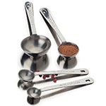 Focus 528-SPOON Measuring Spoon Set, 4 Piece, Stainless Steel