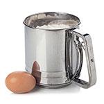 "Focus 530 Flour Sifter, 5 Cup Capacity, 5 - 1/4""dia. x 5""H"