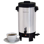 Focus 58002 Coffee Maker, Residential, 42 Cup Capacity, Polished Aluminum Finish