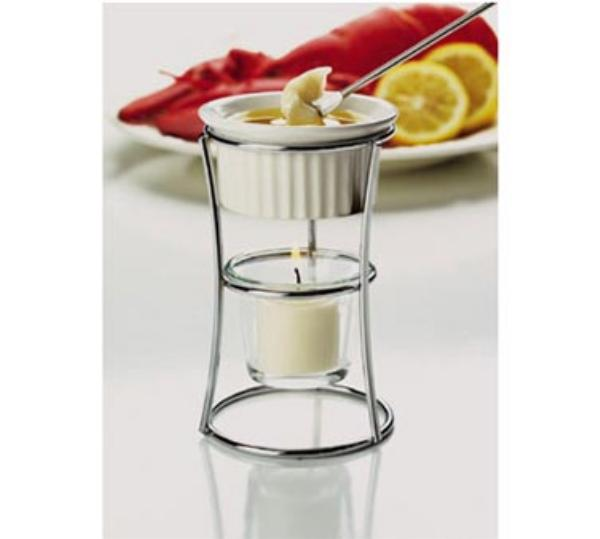 Focus 593 Butter Warmer with Ceramic Ramekin 3 3/4 dia x 5 in H Restaurant Supply