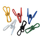 Focus 799 Everything Clips, 2 - 1/4 in L, Assorted Colors, 12 per Bag