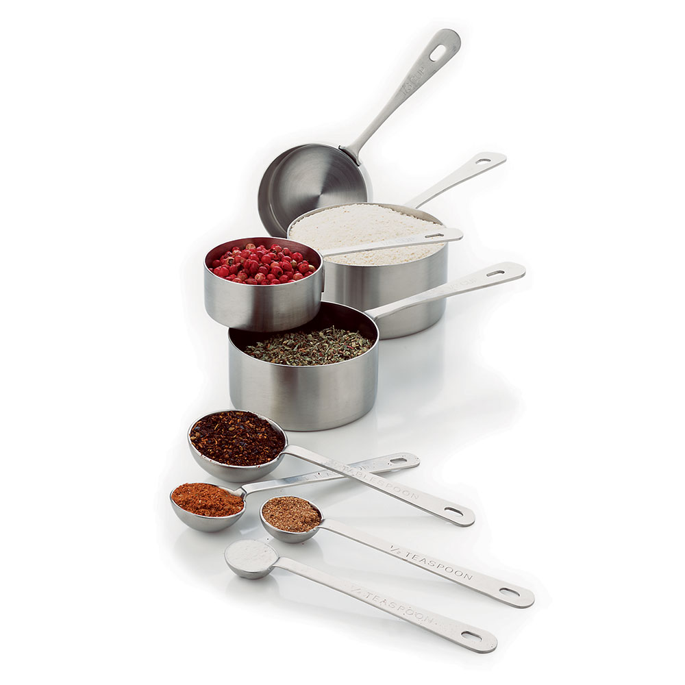 Focus 8343 Measuring Cup & Spoon Set, 8 Piece, Stainless Steel