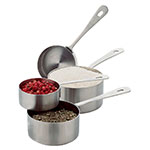 Focus 864 Measuring Cup Set - 4-Piece, Quarter Cup, Third Cup, Half Cup, Full Cup, Stainless Steel