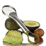 "Focus 8685 Avocado Slicer And Pitter, 9-1/2""L, Nylon Loop End,Stainless Wire"