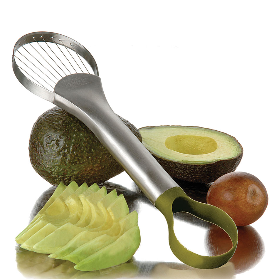 Focus 8685 Avocado Slicer And Pitter, 9-1/2 in L, Nylon Loop End, SS Wire