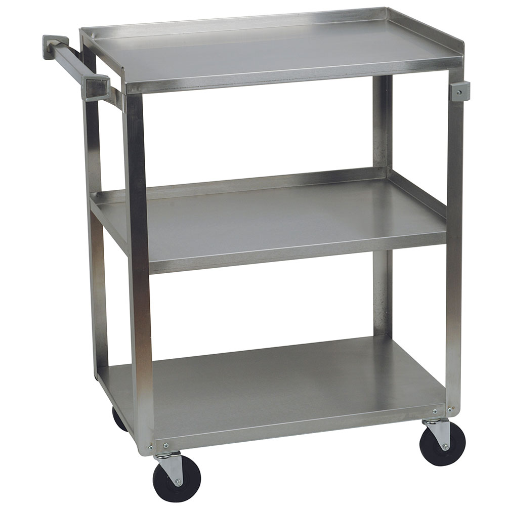 Focus 90411 Stainless Steel Cart w/ 3-Shelves, 500-lb Capacity