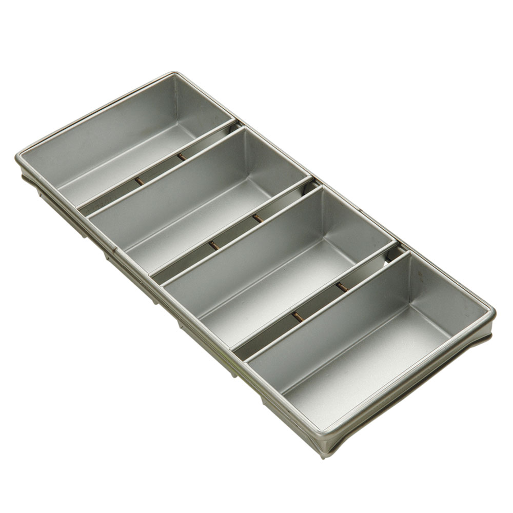 "Focus 904245 Strapped Bread Pan Set - 9.22x21.88x2.75"", Aluminized Steel-Silicone Glaze"