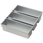 Focus 904635 Three Pan Strapped Pullman Bread Pan Set, Aluminum 13 x 4 x 4 in